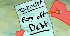 Pay off debt To Do List