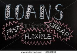 cheap-fast-flexible loans-sign-advertised-on-a-blackboard
